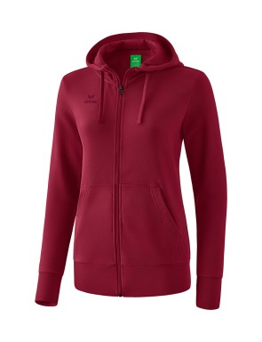 Hooded Sweat Jacket - Women - bordeaux