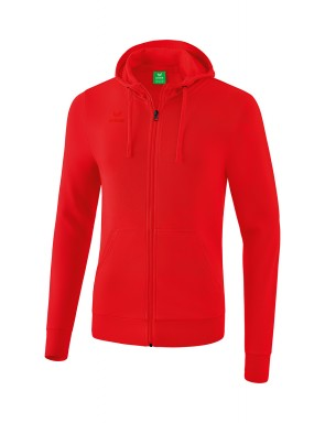 Hooded Sweat Jacket - Kids - red