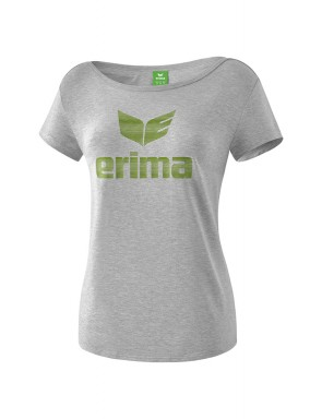 Essential T-shirt - Women - light grey marl/twist of lime