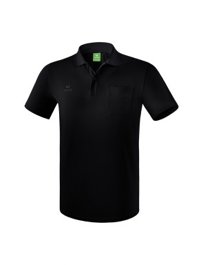 Polo-shirt with chest pocket - Men - black