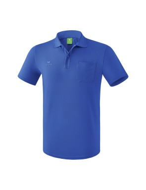 Polo-shirt with chest pocket - Men - new royal