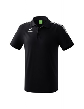 Essential 5-C Polo-shirt - Men - black/white