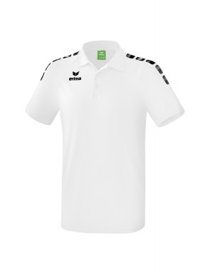 Essential 5-C Polo-shirt - Men - white/black