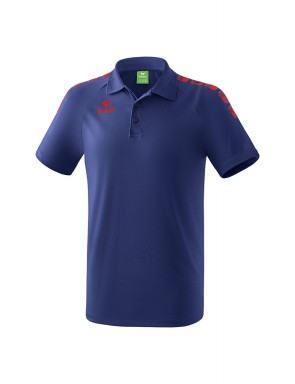 Essential 5-C Polo-shirt - Men - new navy/red