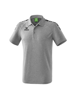 Essential 5-C Polo-shirt - Men - grey marl/black