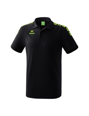 Essential 5-C Polo-shirt - Men - black/green gecko