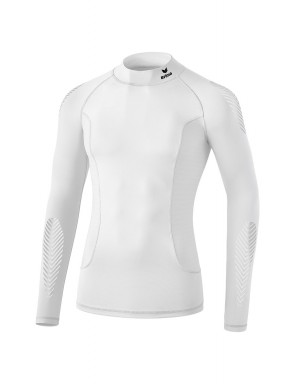 Elemental Long Sleeve Top with stand-up collar - Men - white