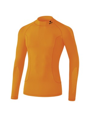 Elemental Long Sleeve Top with stand-up collar - Men - orange