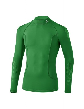 Elemental Long Sleeve Top with stand-up collar - Kids - emerald