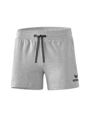 ESSENTIAL Sweat Shorts - Women - light grey marl/black