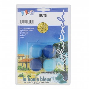 LA BOULE BLEUE Lots de 4 buts collectors
