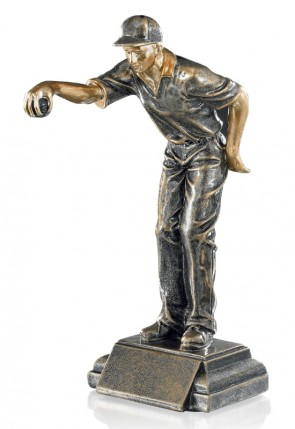 Petanque trophy the Shooter, bronze color, 24 cm