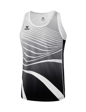 Singlet - Men - black/white