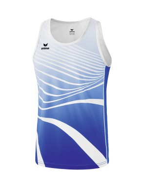 Singlet - Men - new royal/white