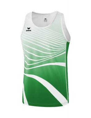 Singlet - Men - emerald/white