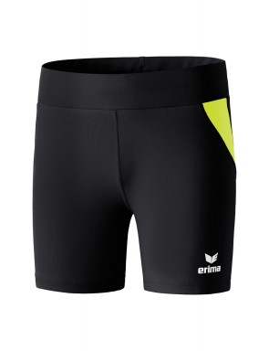 Tights short - Women - black/fluo yellow