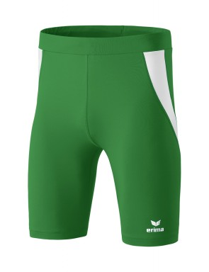 Tights short - Men - emerald/white