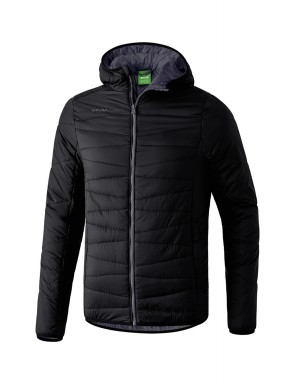 Quilted Jacket - Kids - black/dark grey