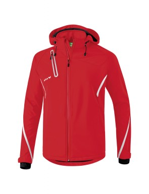 Softshell Jacket Function - Men - red/white