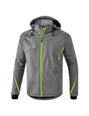 Softshell Jacket Function - Kids - grey marl/green gecko