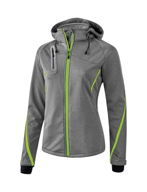 Softshell Jacket Function - Women - grey marl/green gecko