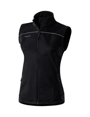Soft Shell Gilet - Women - black/grey