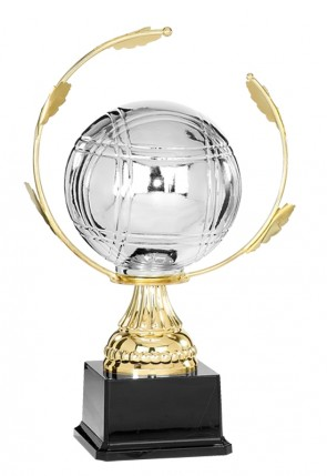 World Petanque Trophy Gold and Silver - height 33 cm