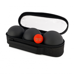 3 Petanque balls with bag - Smooth pattern black