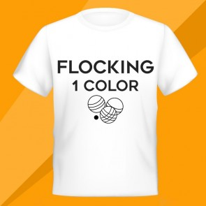 One color flocking ( size up to 625 cm2)