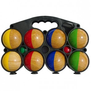 Set of 8 half painted wooden balls