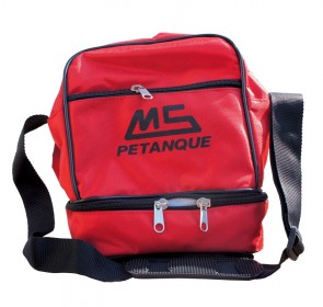 MS Petanque red bag for 3 petanque balls
