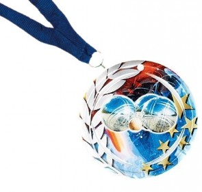 Petanque medal in ceramic 70mm