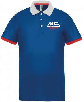 MS Pétanque sport polo royal blue