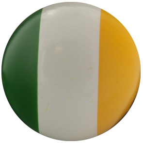 Lacquered boxwood jack with the colors of Ireland