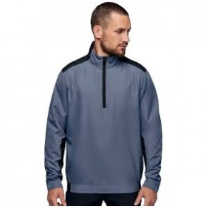 Zip neck windcheater - men - sporty grey/black