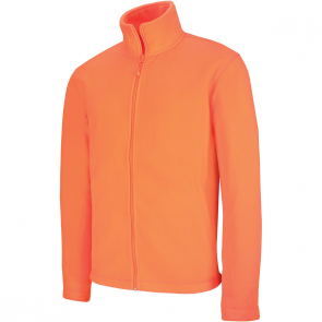 Men's Zip fleece Jacket Kariban K911-Orange-Fluo