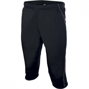 3/4 length training tights - men - black