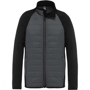 Dual-fabric sports jacket - men - sporty grey/black