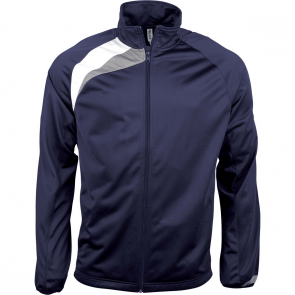 Tracksuit top - men - sporty navy/white/storm grey
