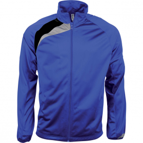 Tracksuit top - men - sporty royal blue/black/storm grey