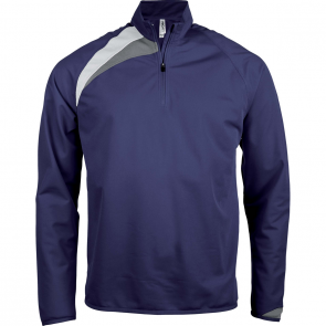 Zip neck training top - men - sporty navy/white/storm grey