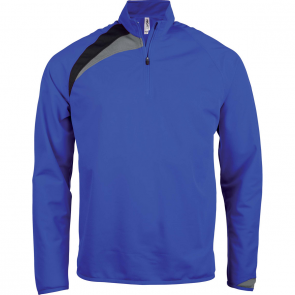 Zip neck training top - kids - sporty royal blue/black/storm grey