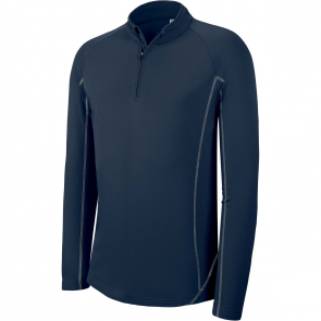 Zip neck running sweatshirt - men - sporty navy