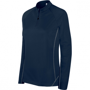 Zip neck running sweatshirt - ladies - sporty navy