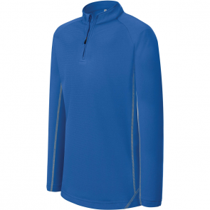 Zip neck running sweatshirt - kids - sporty royal blue
