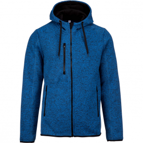 Heather hooded jacket - men - light royal blue mélange
