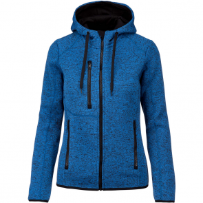 Heather hooded jacket - ladies - light royal blue mélange