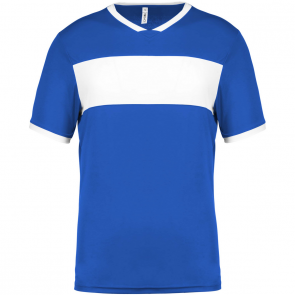 Short-sleeved jersey - men - sporty royal blue/white