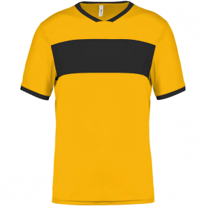 Short-sleeved jersey - men - sporty yellow/black