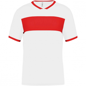 Short-sleeved jersey - men - white/sporty red